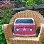 Bay Campervan cushion Cover Front