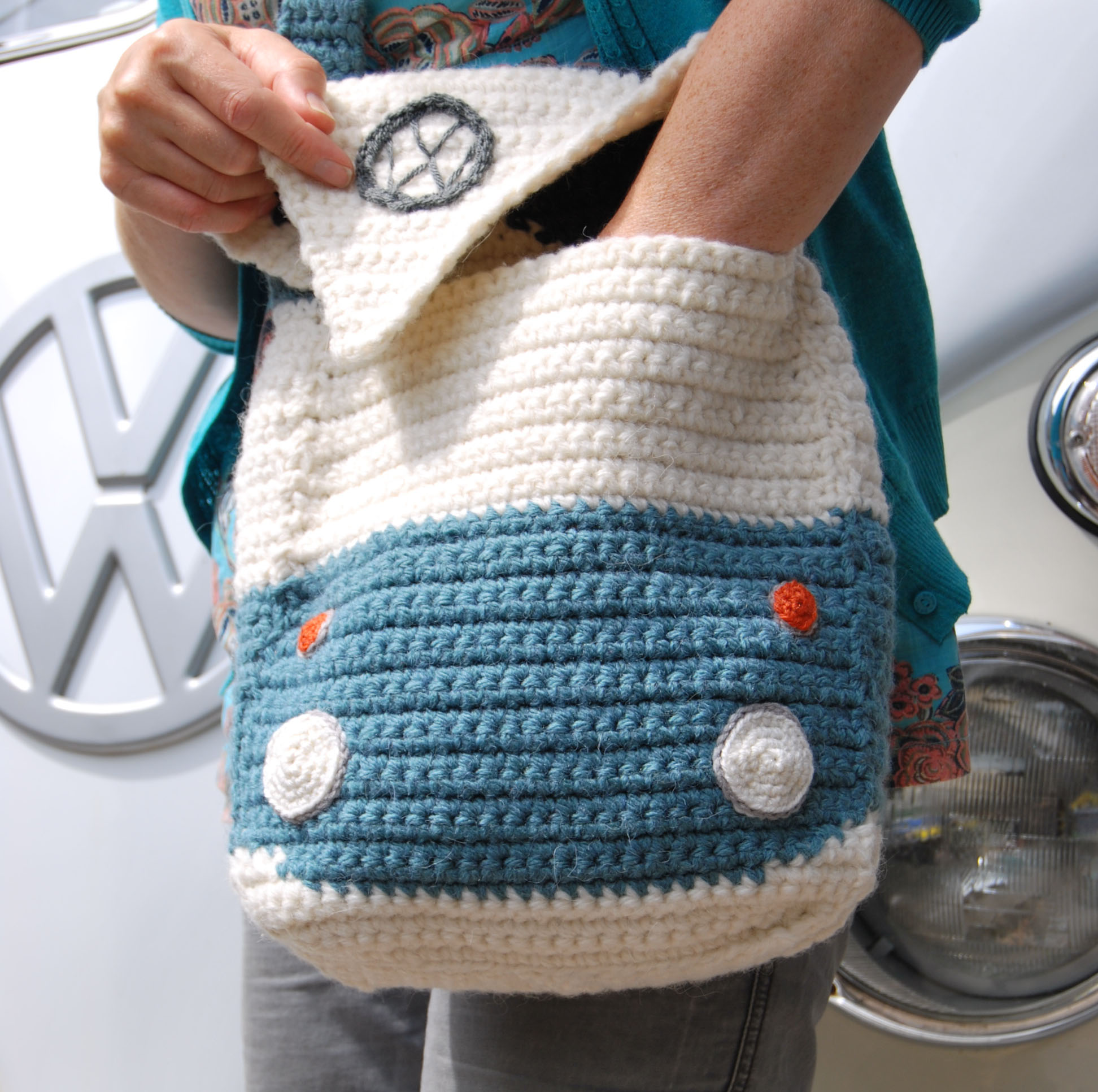 Campervan Shoulder Bag Open view