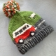 Noggin :) Super Chunky Hand Knitted Campervan Beanie Bobble Hats