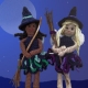 Holly & Snowflake swap their winter dresses for Halloween Costumes