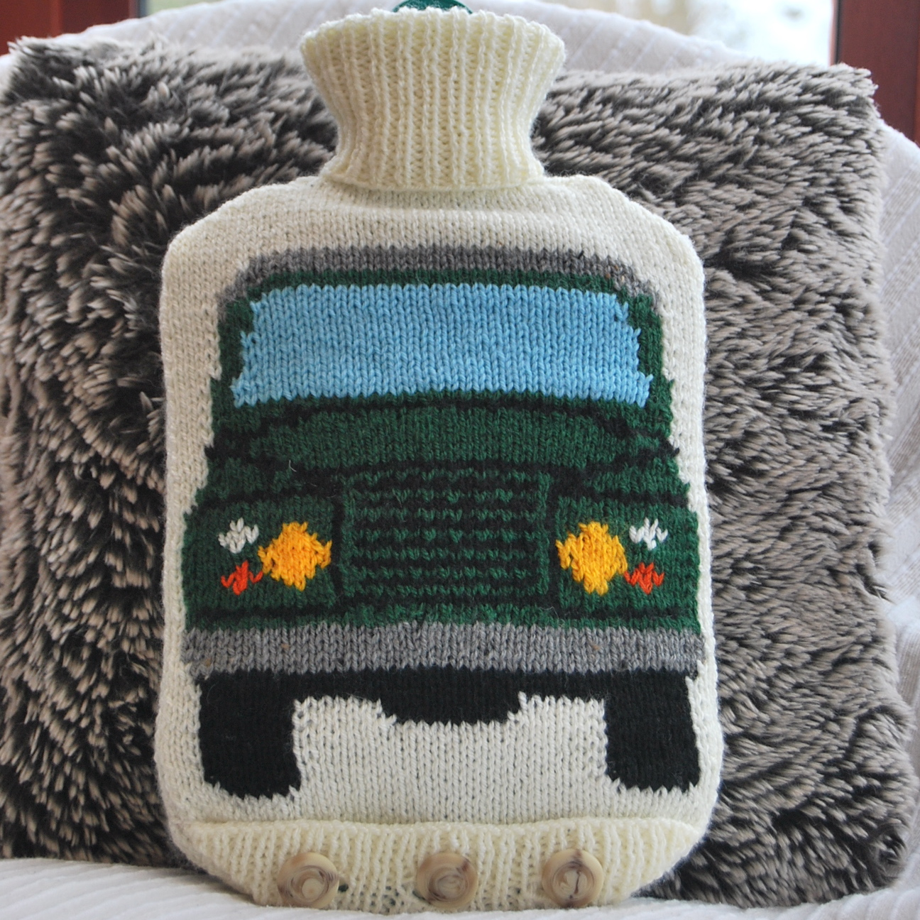 PDF Knitting Pattern for a Land Rover Hot Water Bottle Cover ...
