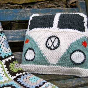 Splitty Campervan cushion cover Front