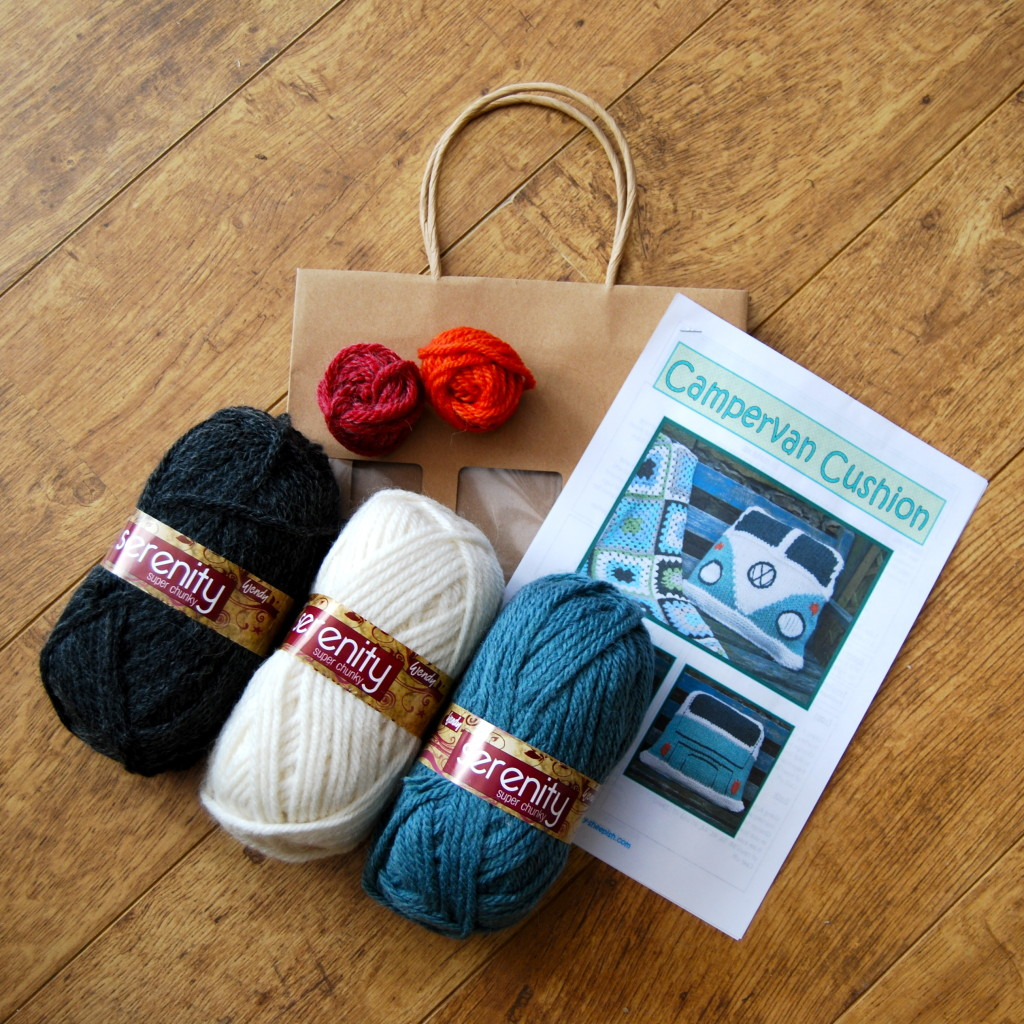Kits to make a Splitty campervan cushion cover