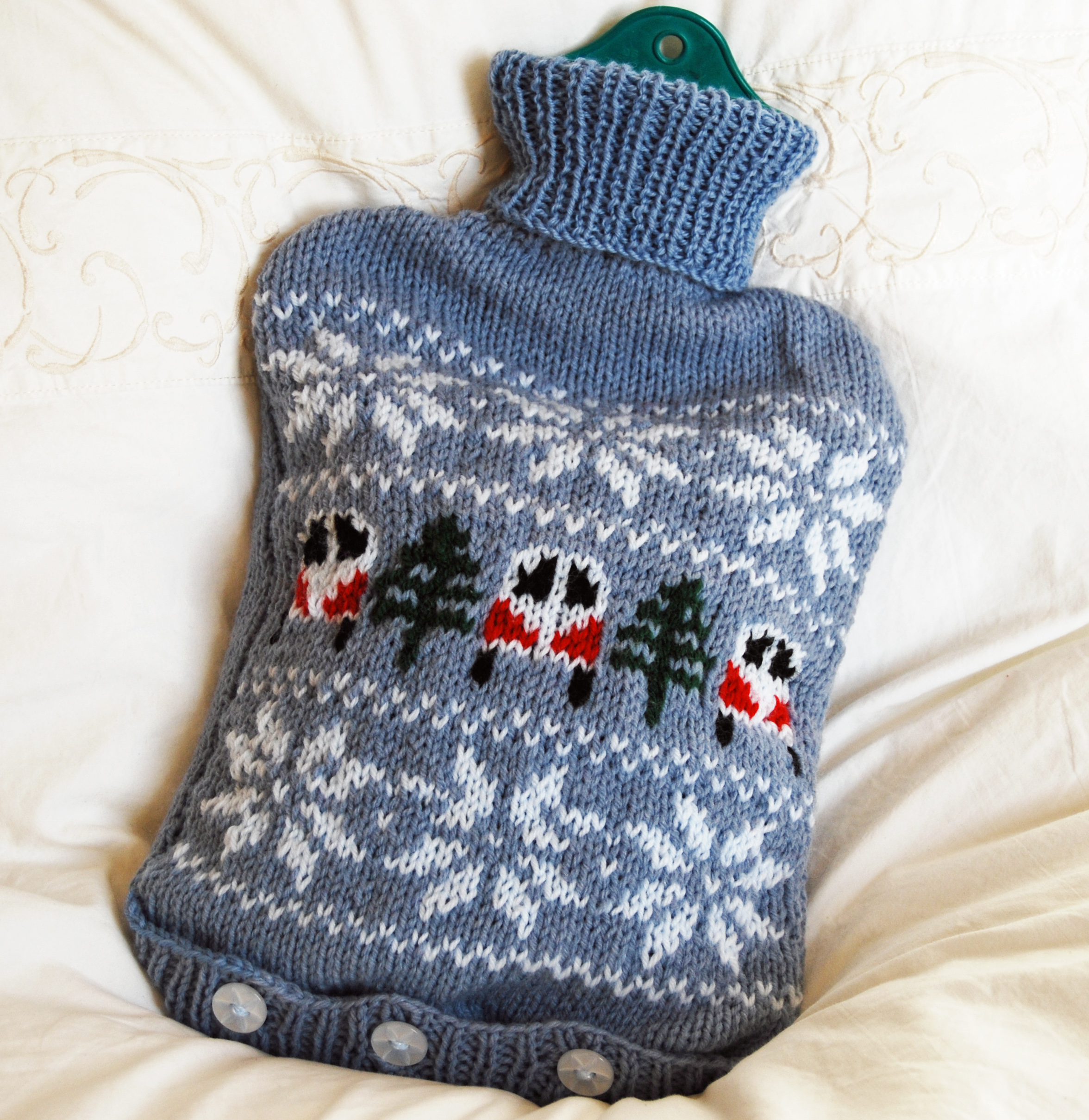 campervan hot water bottle cover knitting pattern