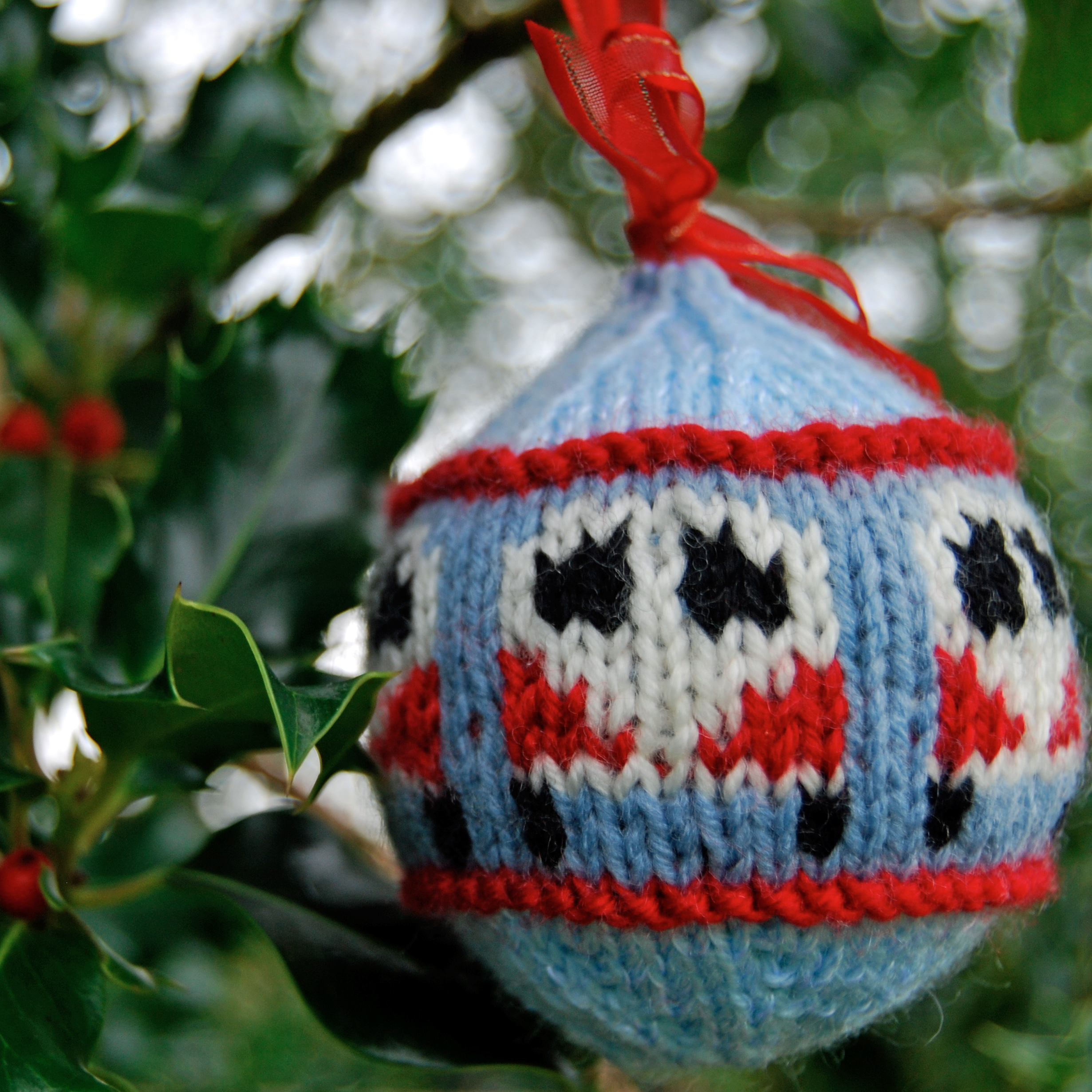 A Campervan themed festive bauble decoration for your Christmas tree