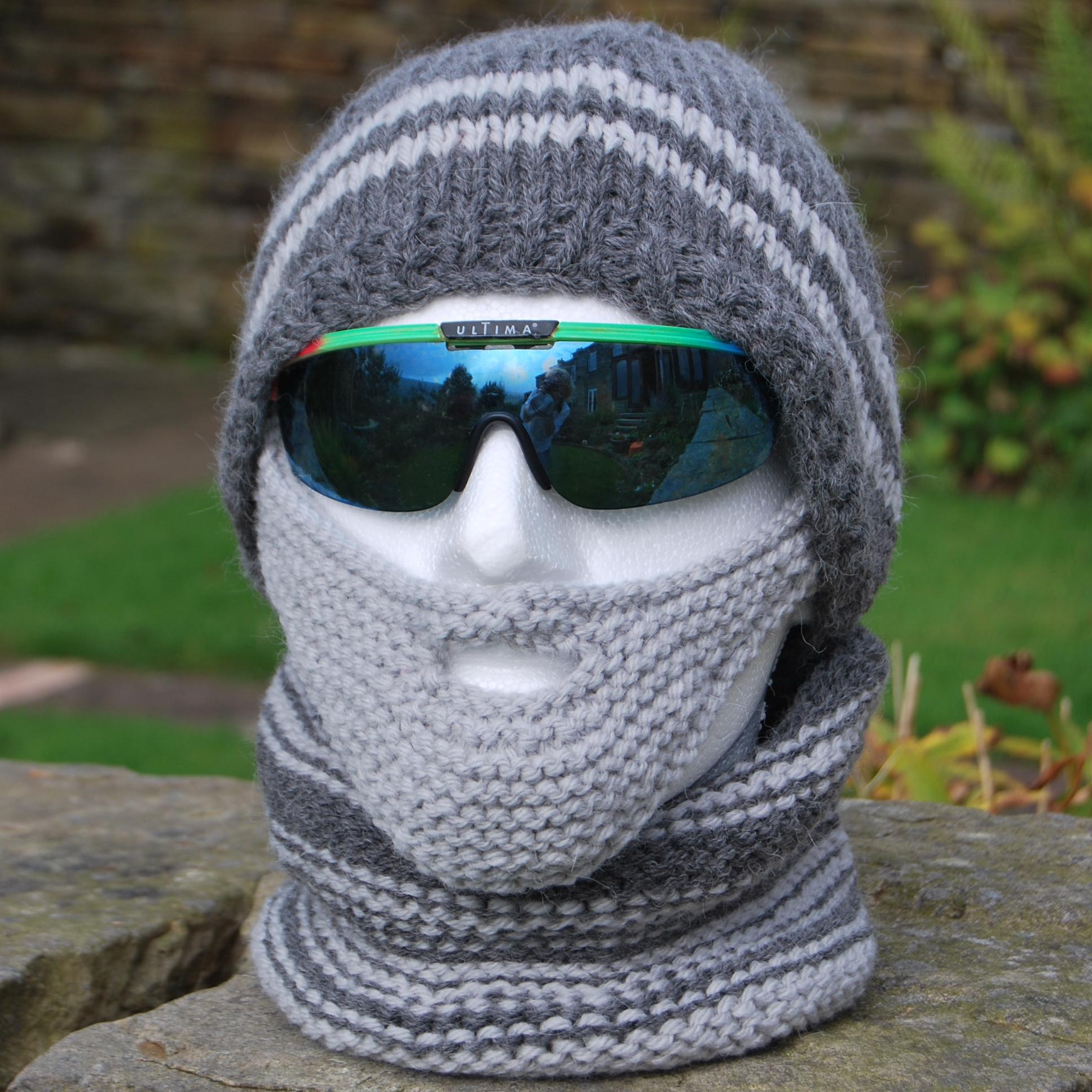 PDF Knitting Pattern for a Beardy Weirdy Beanie Hat, Beard & Neck ...