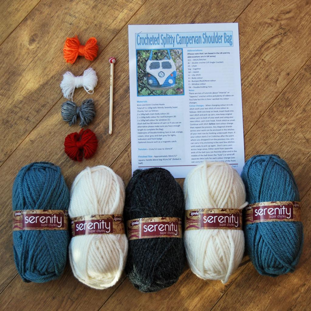 Splitty Crocheted Campervan Shoulder Bag