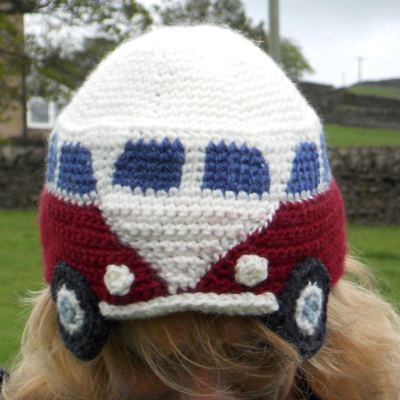 Pdf crochet pattern for a campervan beanie hat slightly sheepish pdf crochet pattern for a campervan beanie hat bankloansurffo Gallery