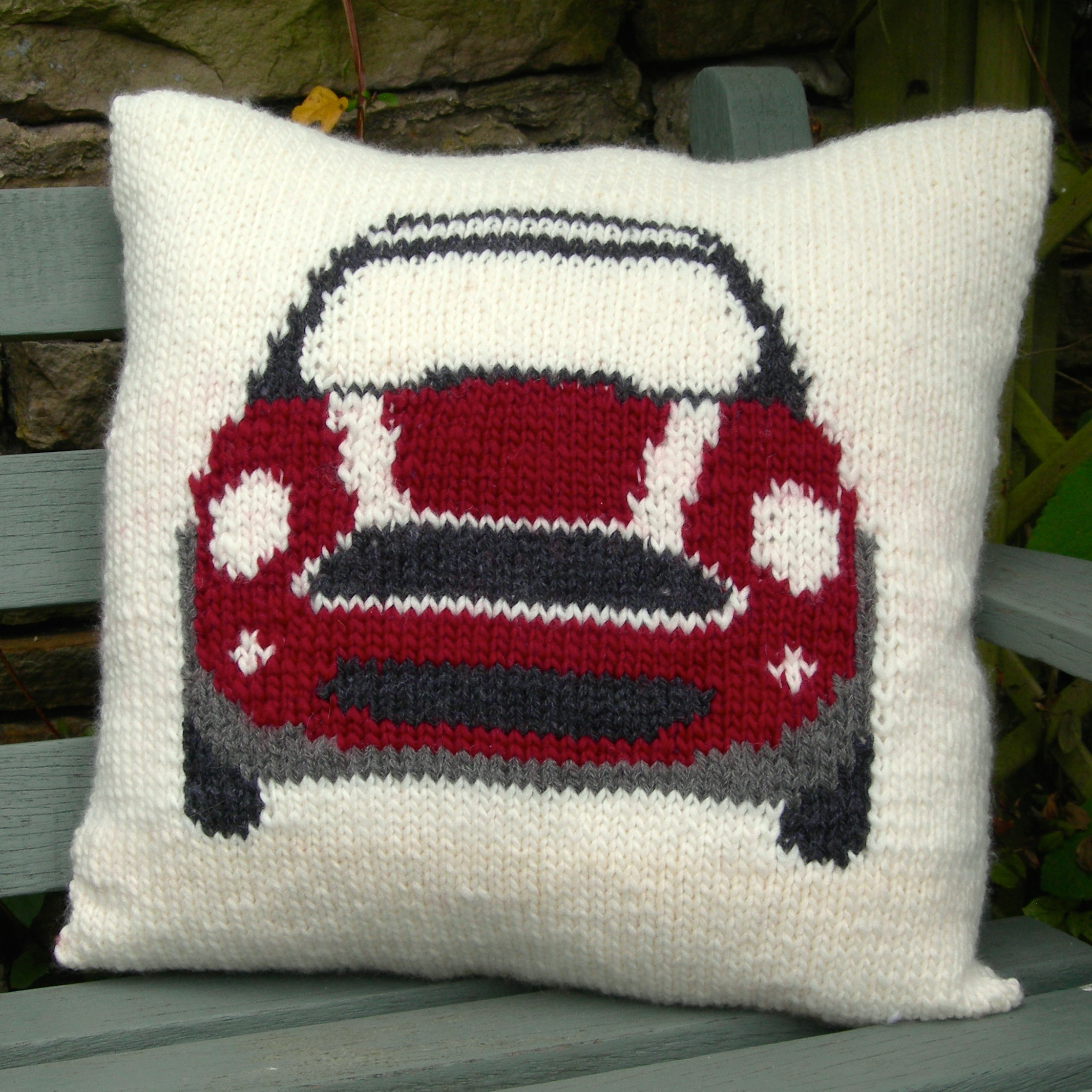 PDF Knitting Pattern for a Mini Cushion Cover - Slightly Sheepish