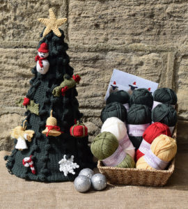 Crochet a gorgeous Merino Christmas Tree with TBRamsden's CAL