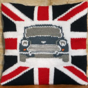Knit yourself a Classic Mini inspired cushion!