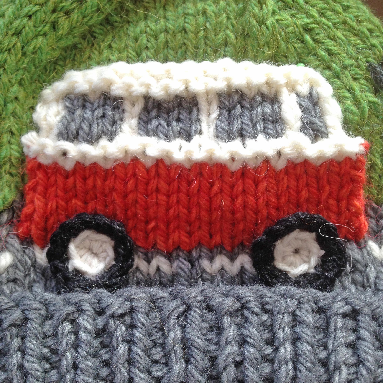 PDF Knitting Pattern - Super Chunky Campervan Beanie / Bobble Hat ...