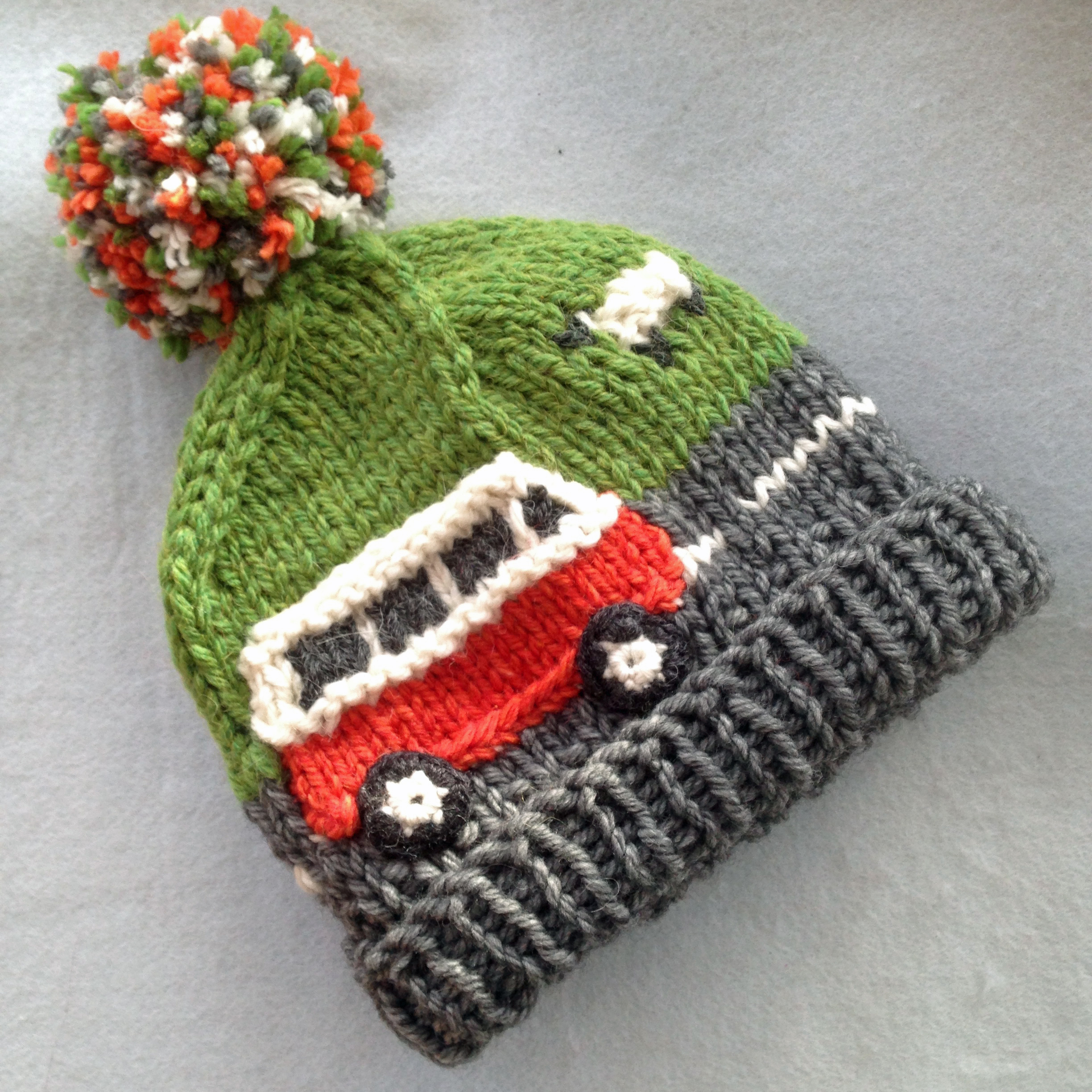 Hand Knitted Campervan Hats
