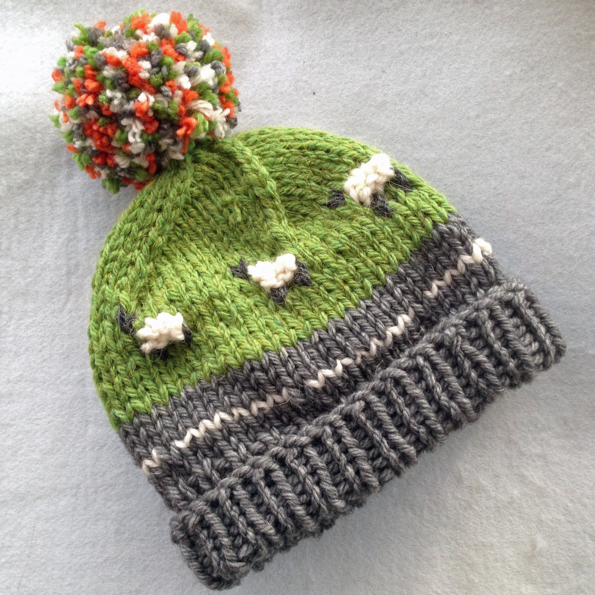 PDF Knitting Pattern - Super Chunky Campervan Beanie   Bobble Hat ... 2298e329fed