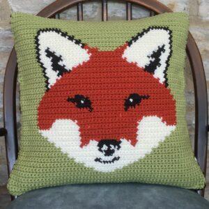 Fox Cushion Pillow Crochet Pattern